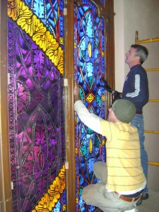 Religious Stained Glass Installation